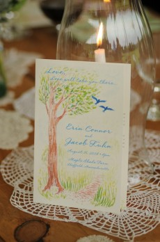 Illustration for Erin & Jacob's Wedding - photo by diasphoto.com