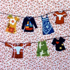 Fabrics from Sara, Rose, Aunt Betsy; sewn by Sara