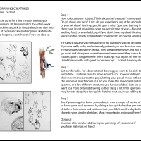 LESSON 2 - DRAWING CREATURES